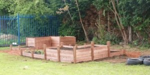 Holloway School Garden with Recycle Works Raised Beds