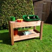 Potting Table With Shelf